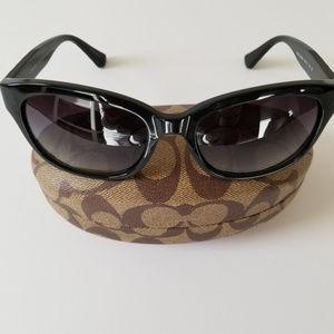Coach Cailin Black Sunglasses with Case